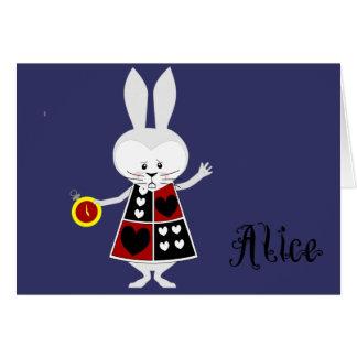 Conejo blanco - las aventuras de Alicia en el país Felicitaciones