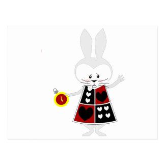 Conejo blanco - las aventuras de Alicia en el país Tarjetas Postales