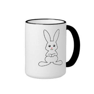 Conejo blanco lindo tazas