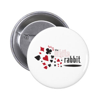 Conejo blanco pin