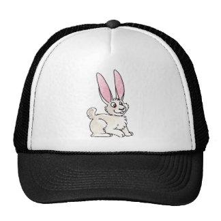 Conejo blanco que se sienta gorra