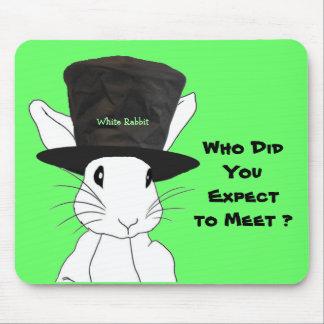 Conejo blanco que usted esperaba resolver el cojín alfombrilla de ratones