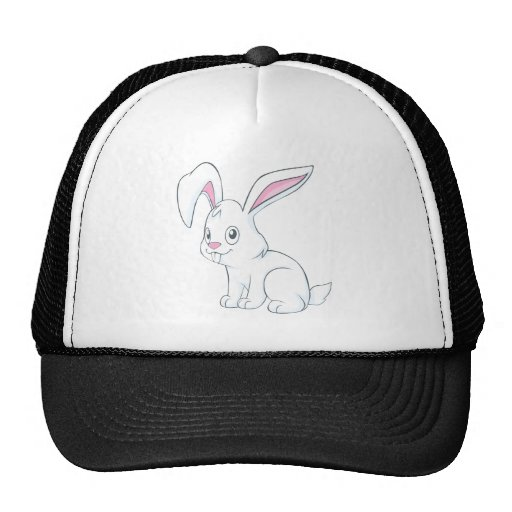 Conejo blanco sonriente gorros