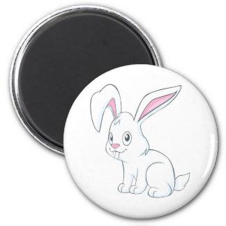 Conejo blanco sonriente imanes para frigoríficos