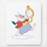 Conejo blanco tapetes de ratón
