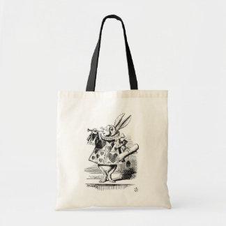 Conejo blanco vestido como Herald Bolsa