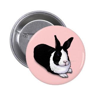 Conejo blanco y negro pins