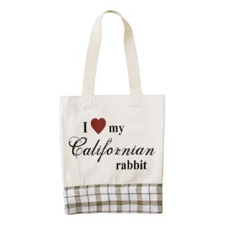 Conejo californiano bolsa tote zazzle HEART