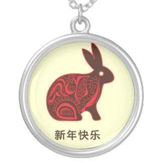 Conejo chino 2011 collar personalizado