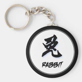 Conejo chino elegante simple fresco de la muestra  llavero personalizado