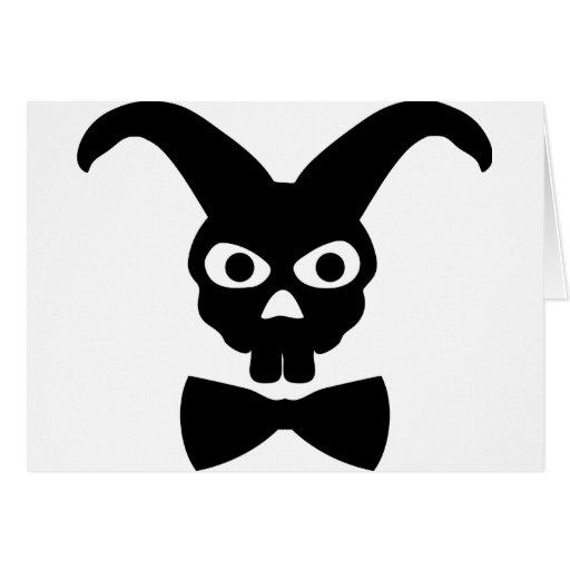 conejo con el icono del bowtie felicitación