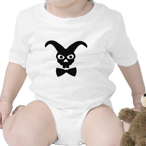 conejo con el icono del bowtie trajes de bebé