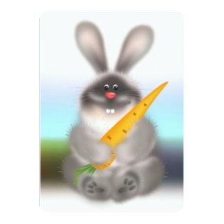 """Conejo con la zanahoria invitación 5"""" x 7"""""""
