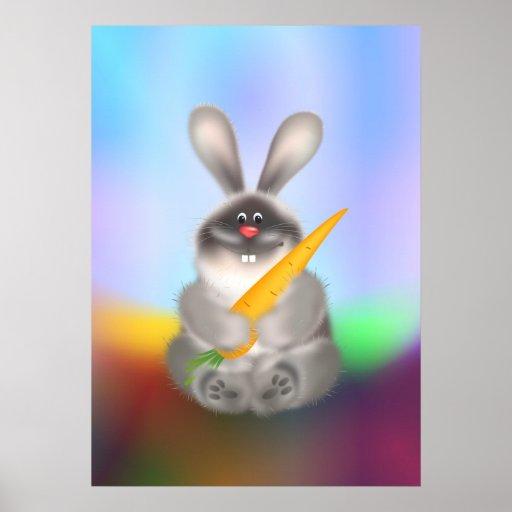 Conejo con la zanahoria poster