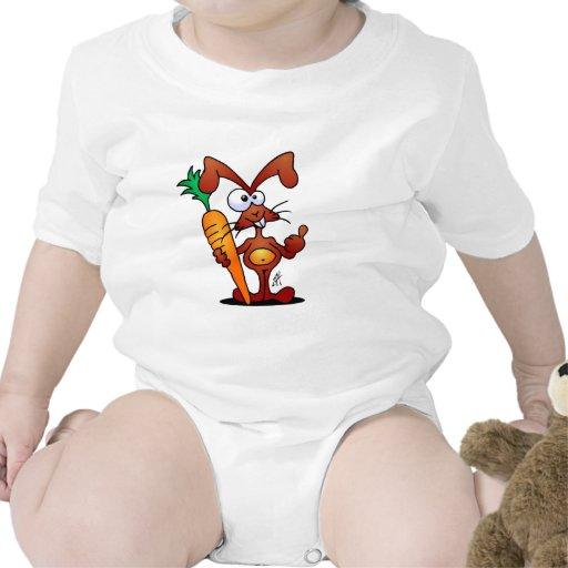 Conejo con la zanahoria trajes de bebé