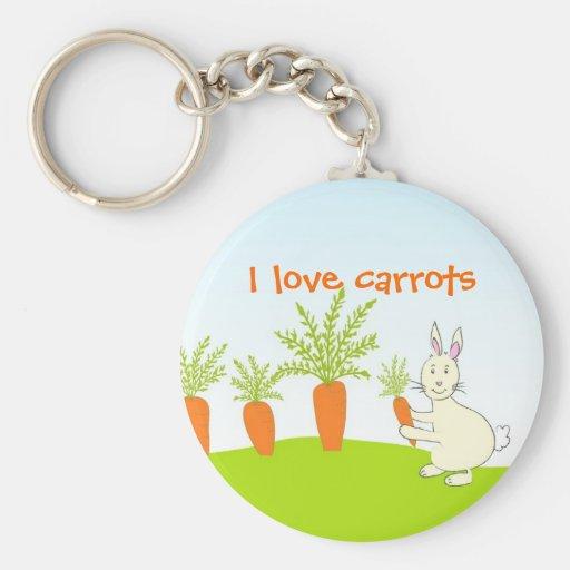Conejo con los carrorts - llavero