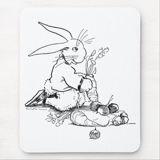 Conejo con Veggies sabrosos Tapete De Raton