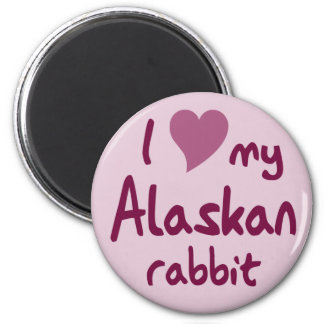 Conejo de Alaska Imanes Para Frigoríficos