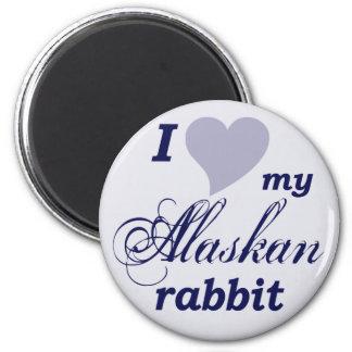 Conejo de Alaska Iman Para Frigorífico