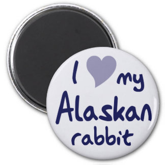 Conejo de Alaska Imán De Nevera