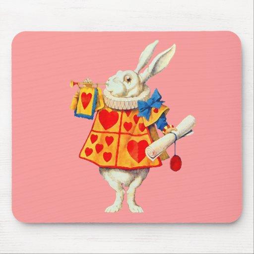 Conejo de Alicia en el ~ Mousepad del país de las  Alfombrillas De Raton