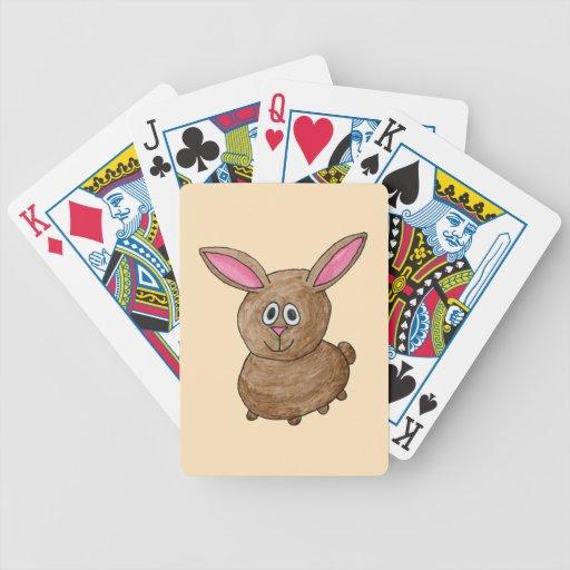 Conejo de Brown Cartas De Juego