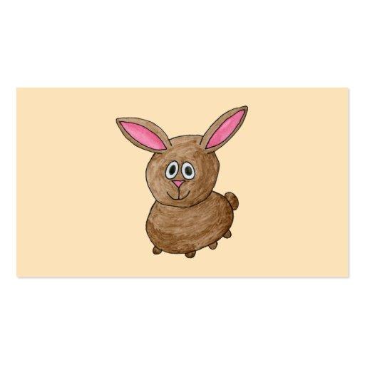 Conejo de Brown Plantillas De Tarjetas Personales