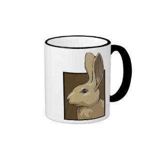 Conejo de Brown Taza De Dos Colores