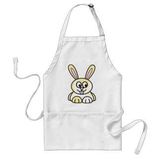 Conejo de conejito amarillo y blanco lindo delantal