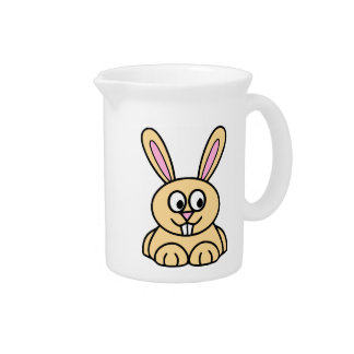 Conejo de conejito anaranjado lindo jarras