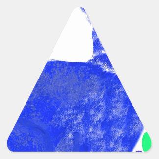 Conejo de conejito azul de pascua colcomanias de triangulo personalizadas
