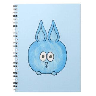 Conejo de conejito azul lindo libros de apuntes