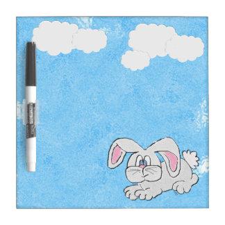 Conejo de conejito (azul) pizarra blanca