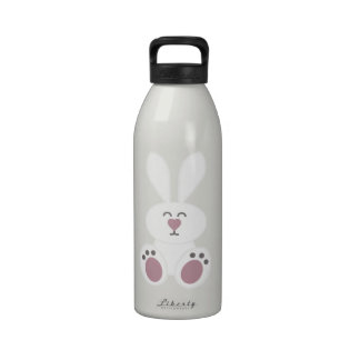 Conejo de conejito blanco lindo botallas de agua