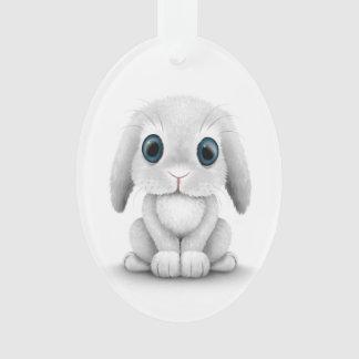 Conejo de conejito blanco lindo del bebé