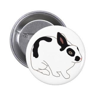 Conejo de conejito blanco y negro pin