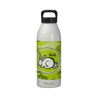 Conejo de conejito; camo verde claro, camuflaje botellas de agua reutilizables