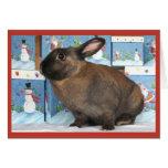Conejo de conejito Chritmas con las cajas del día  Tarjetón