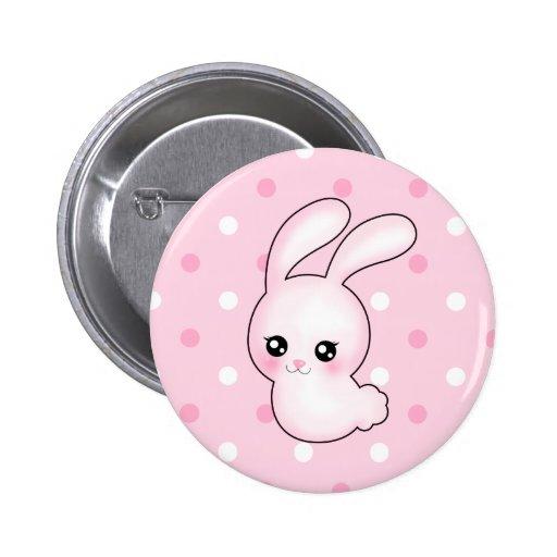 Conejo de conejito de pascua del rosa del animado  pin
