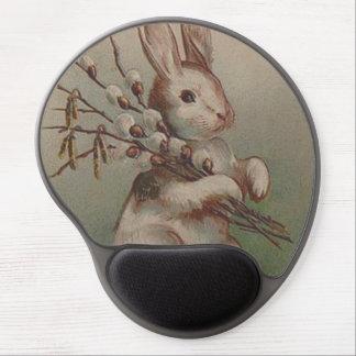 Conejo de conejito de pascua del vintage alfombrilla de ratón con gel