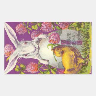Conejo de conejito de pascua del vintage - púrpura rectangular altavoz