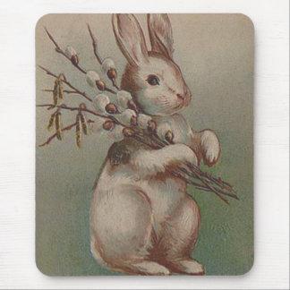 Conejo de conejito de pascua del vintage tapetes de ratón