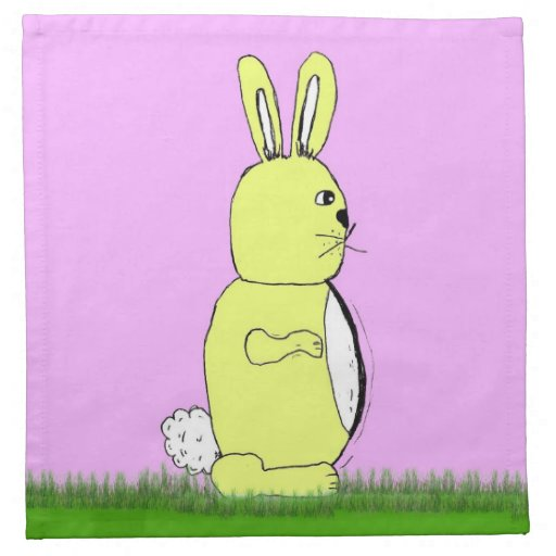 Conejo de conejito de pascua servilleta de papel