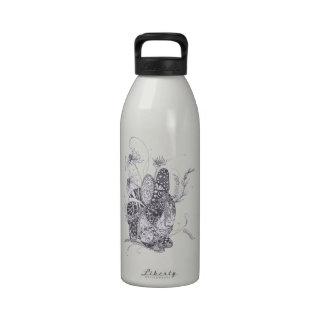 Conejo de conejito de Zentangle Botellas De Agua Reutilizables
