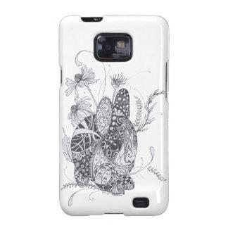 Conejo de conejito de Zentangle Samsung Galaxy SII Fundas