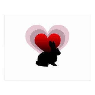 Conejo de conejito del amor - adaptable postal