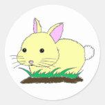 Conejo de conejito del bebé pegatinas redondas