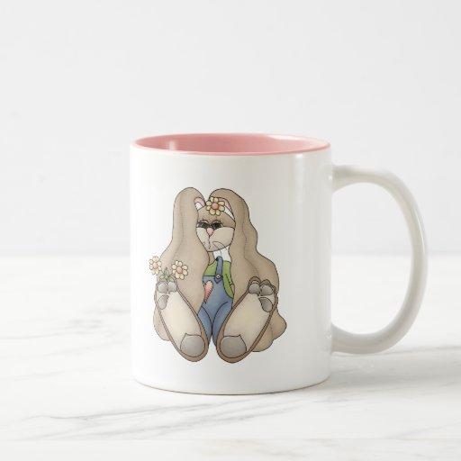 Conejo de conejito del chica tazas