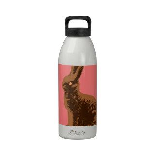 Conejo de conejito del chocolate botellas de agua reutilizables