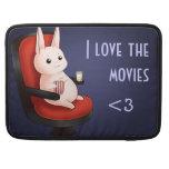 Conejo de conejito del cine de Kawaii Fundas Macbook Pro